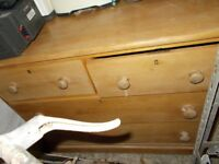 Old style wooden chest of drawers