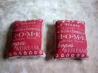 2 Next cushions (unused)