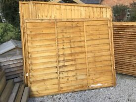 6 ft x 5 ft. Fence Panels. New. Weather treated. One only