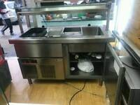 Commercial display chiller stainless steel fully working