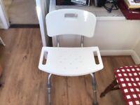 White bathroom Chair
