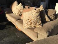 Leekes 4 seater sofa and chair