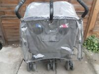 COSSATTO SIDE BY SIDE TWIN PUSHCHAIR-SIS AND BRO