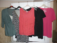Ladies - size 18 mixed bundle of 5 tops (George,Moda & Monsoon)
