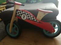 Play & Grow Super Fast Wooden Balance Bike 3+years