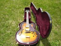 FA70 ARIA  L5 STYLE GUITAR  WITH NEW  HARD CASE