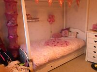 White four poster princess bed