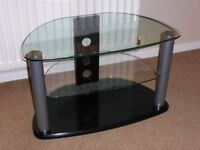 Black & Glass TV DVD Stand VERY GOOD CONDITION!