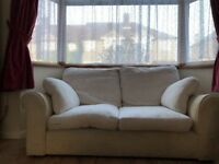 White duck-feathers 2seat sofa
