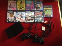 Sony PlayStation 2 Slim with games