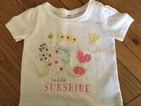 Girls T-shirt new unused. 3-6 months. Excellent price