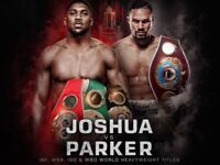 X6 Anthony Joshua v Joseph Parker Floor seats