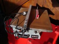 WICKS ELECTRIC TILE CUTTER WITH BLADE CAN BE SEEN WORKING TOP IS A BIT RUSTY DUE TO LACK OF USE £20