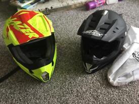 Motocross helmets mans and boys