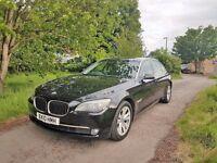 2010 NEW SHAPE BMW 730LD AUTO,BLACK,1 FORMER KEEPER,2 KEYS,7500£ NO OFFERS!!!07872346777