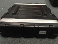 Pulse plastic abs 2U flight case for power amp, rack units, effects etc