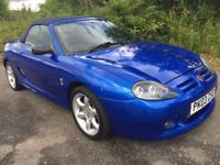 MGTF 115 COOL BLUE **58000 MILES**YEARS MOT**NEW CLUTCH**BARGAIN SUMMER FUN