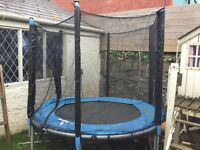 Compact size trampoline with net ideal for small gardens diameter 180cms approx 6ft