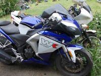 wk bikes sp250 first registered december 2014 4500 miles been stood new chain ,battery v5 key no mot