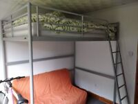 Ikea High Sleeper With Small Double Futon And Mattress Included