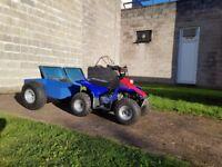 Kazuma 50cc childrens quad bike with trailer