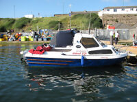 18ft Icelander Fast Fishing Boat With Mariner 75 Outboard & Tarailer.