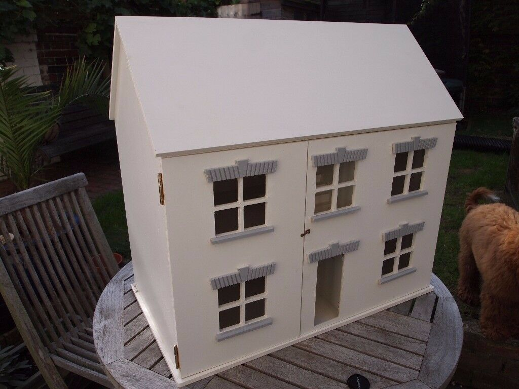 Dolls House - immaculate with dolls and furniture