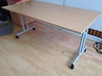 Office Table on wheels (foldable) x 2
