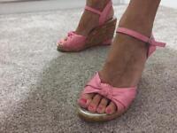 High heels cream black pink red 3 4 5