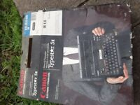 Canon electric typewriter