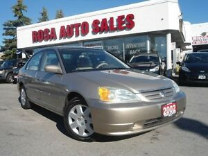 2002 Honda Civic 4dr Sdn LX-G Auto LOW KM NO ACCIDENT PW PL PM N