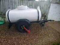 1100 litre water bowser on a galvanised trailer