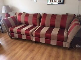 2x 4 Seater Sofas & 1 Seater (Armchair) - Used, Like New.