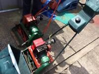 X2 old petrol lawn mowers plus box's