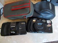 camera x 2 samsung af zoom 1050 and chinon auto gl
