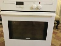 Single electric oven white