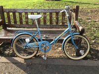Vintage folding bike like new