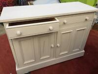 Solid wood freestanding kitchen sideboard/ dresser/ cuoboard.