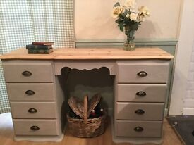 Lovely up cycled solid pine desk/sideboard/dressing table