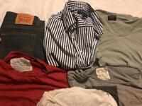 All Saints & Jack Wills T-Shirts, Levi Jeans & Tommy Hilfiger Shirt