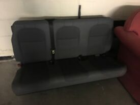 Van seats with back grill and seat belts 3 seater
