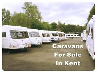 2,3,4,5,6 berth & fixed bed caravans for sale in Kent!