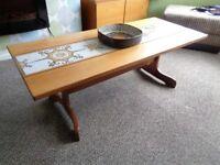 Vintage 1960's/70's Danish Style Teak & Tiled Coffee Table
