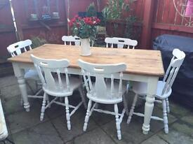 Beautiful farmhouse dining sets/ dressers ❤️