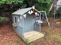 Kids wooden playhouse with decked veranda - deposit has been taken on this