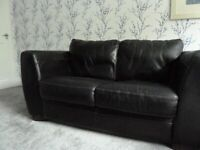 2 SEATER SOFA, ARM CHAIRS & FOOTSTOOL