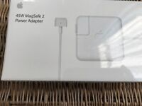 Genuine Apple Magsafe 2 45W-T Style Connector Charger with Box A1436, A1465, A1466 and A1566 RRP £79