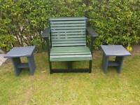 Large Garden Chair Newly Painted + 1 Chair Free