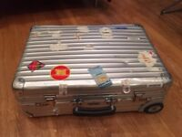 Rimowa aluminium classic carry on sized suitcase