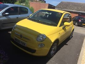 Fiat 500 1.4l sport edition in yellow, low mileage!